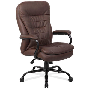 The Occator by OfficeSource in Brown Bomber Leather- for The Eggleston Group