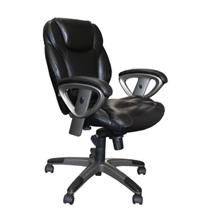 Ultimo™ 300 Series Mid-Back Leather Chair in [variant_title] - Office Furniture Seating by Mayline - Only at the-eggleston-group