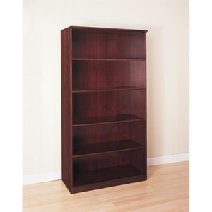 Veneer 5-Shelf Bookcase in [variant_title] - Office Furniture Storage by Mayline - Only at the-eggleston-group