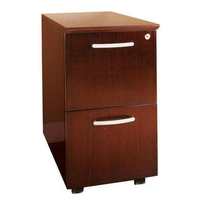 Veneer Mobile Pedestal, File/File in Sierra Cherry - Office Furniture Storage by Mayline - Only at the-eggleston-group