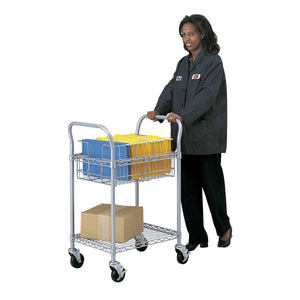 "Wire Mail Cart, 24""W in [variant_title] - Office Furniture Accessories by Safco - Only at the-eggleston-group"