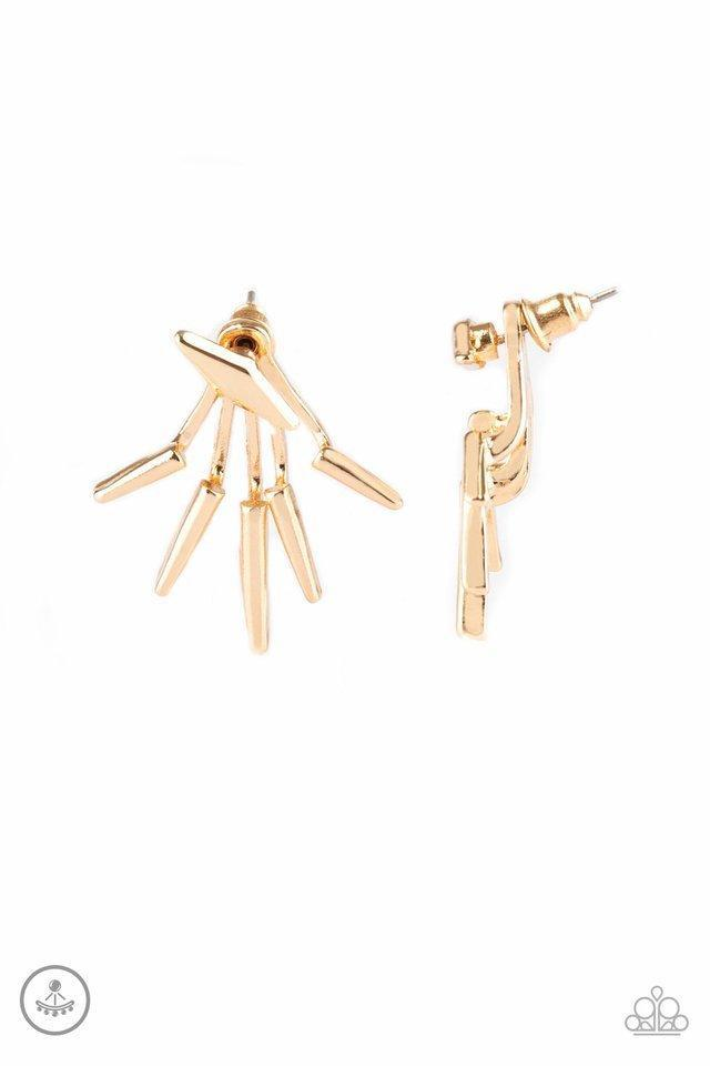 Paparazzi Extra Electric - Gold Earrings