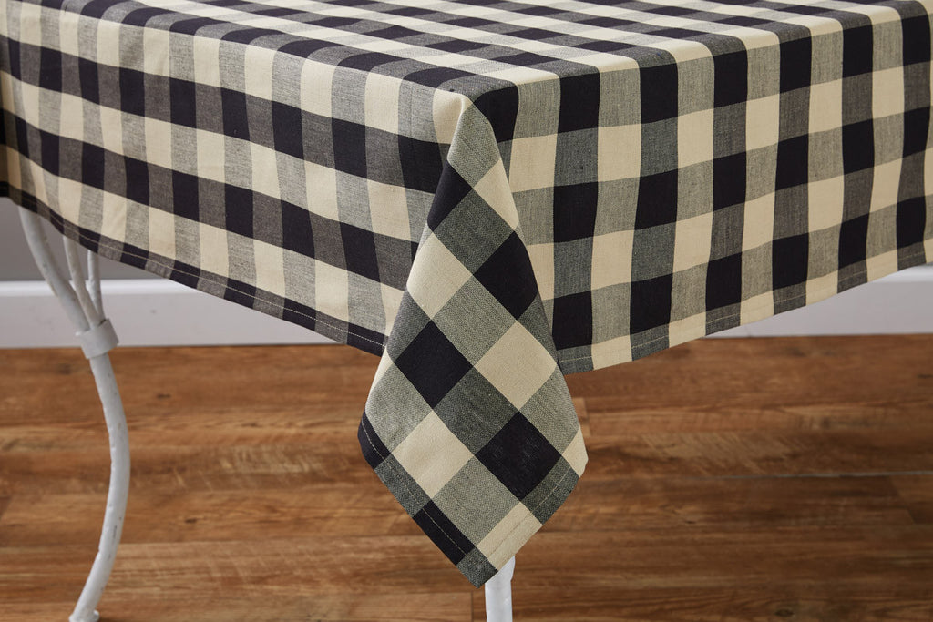 "Table Cloth 54"" x 54"" - Wicklow Check Black"
