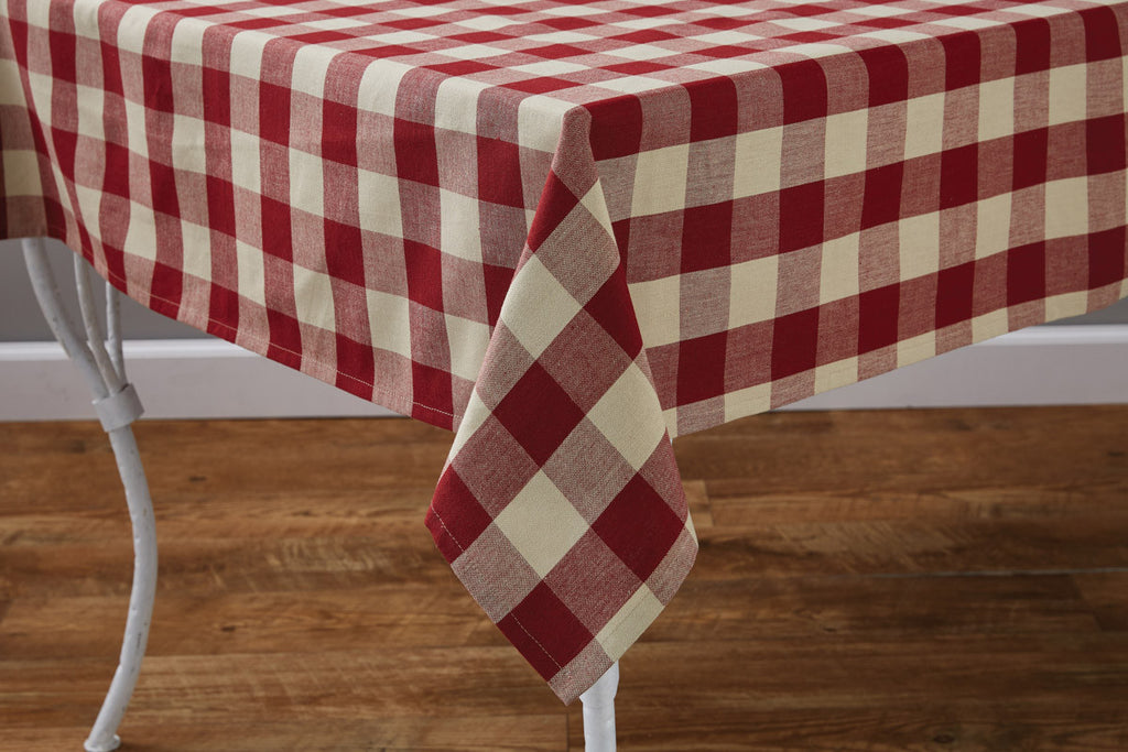 "Table Cloth 54"" x 54"" - Wicklow Check Garnet"