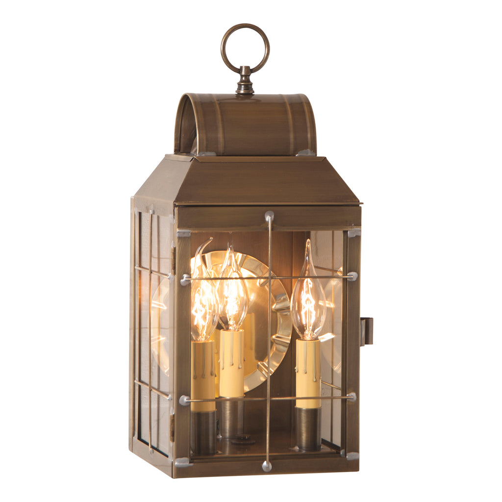 Martha's Wall Lantern in Weathered Brass