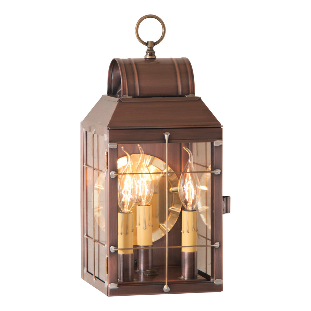 Martha's Wall Lantern in Antique Copper