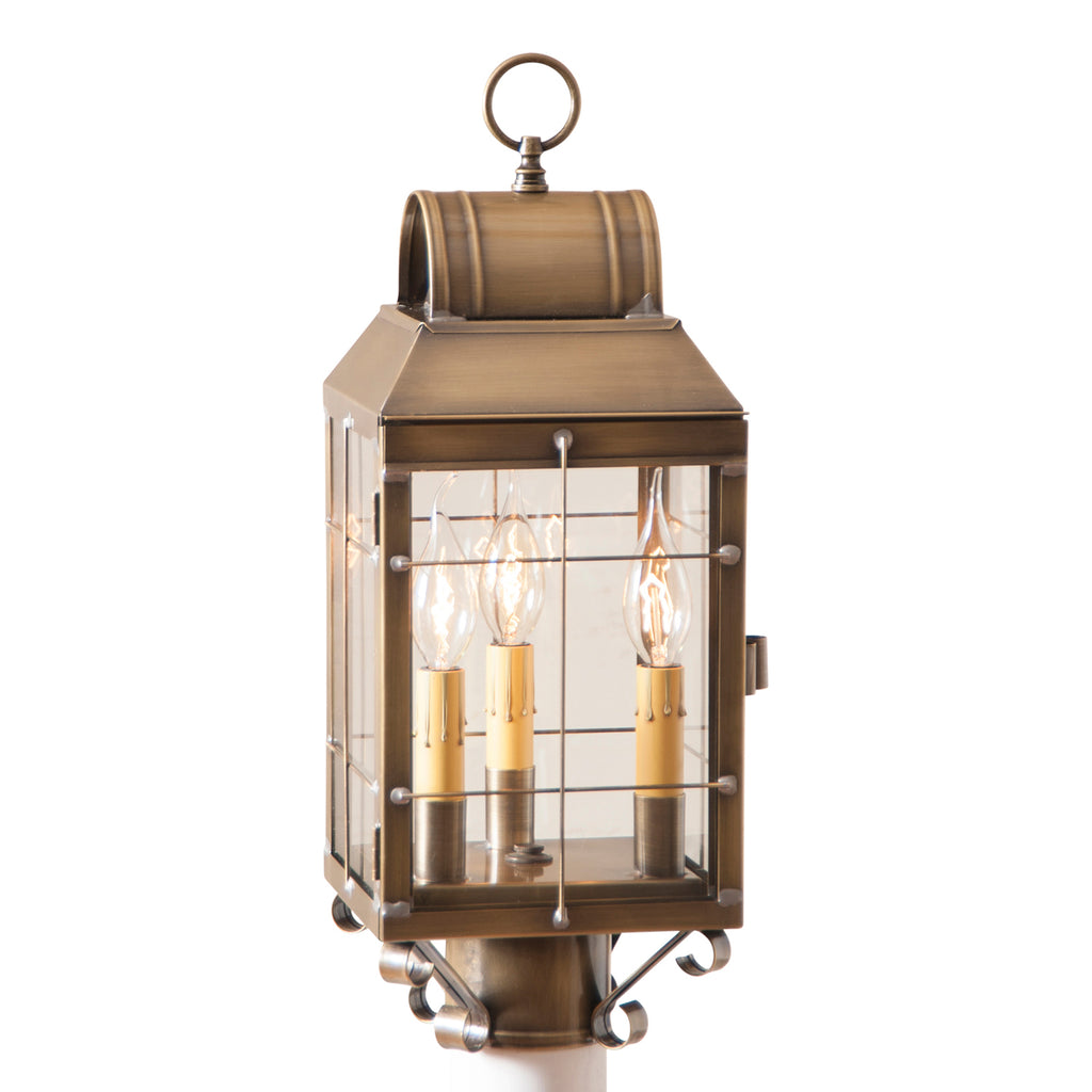 Martha's Post Lantern in Weathered Brass