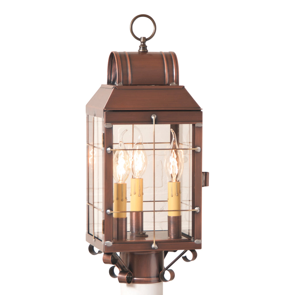 Martha's Post Lantern in Antique Copper
