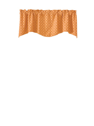 Cameron Wave Lined Waved Valance - Orange