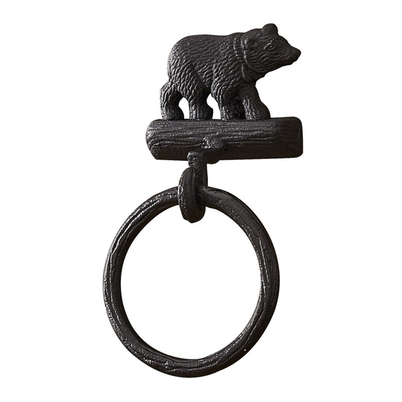 Cast Black Bear ~ Ring Hook