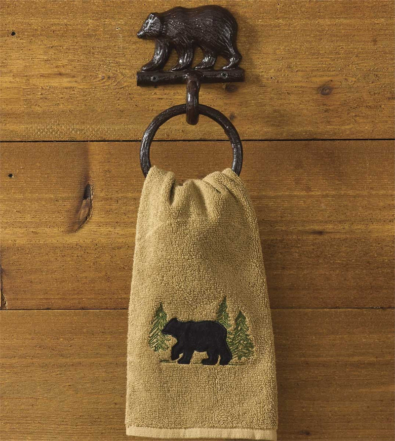 Cast Bear ~ Towel Ring