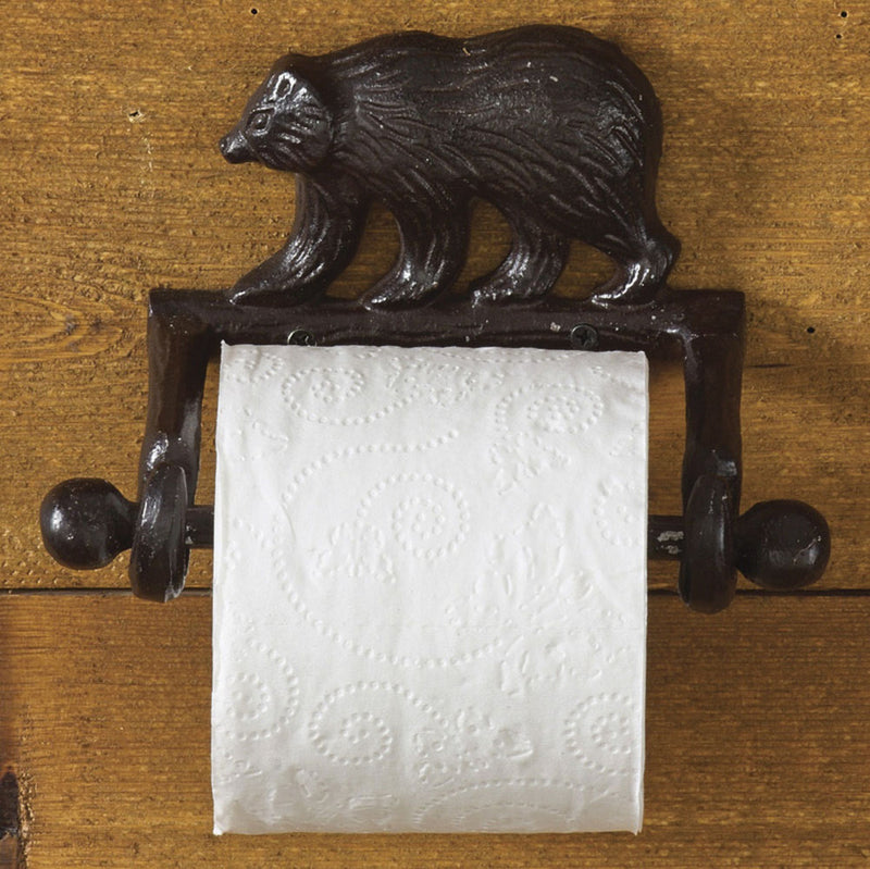 Cast Bear ~ Toilet Tissue Holder