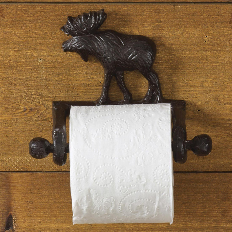 Cast Moose ~ Toilet Tissue Holder