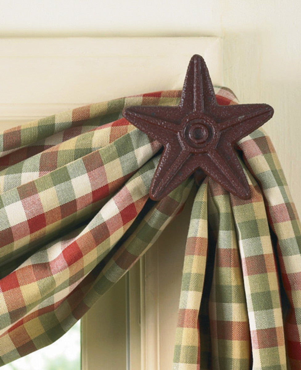 Cast Star Curtain Hooks - Red