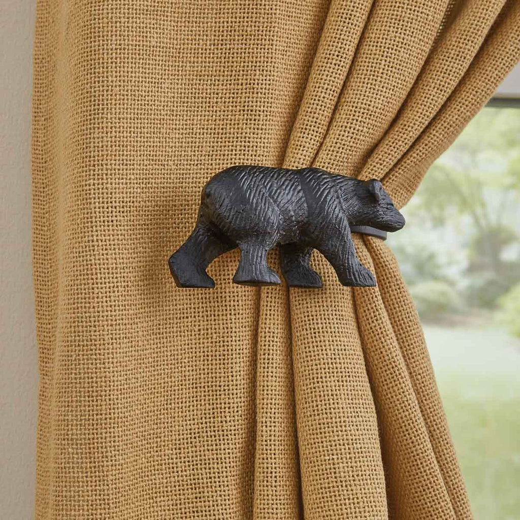 Black Bear Curtain Tie-Backs