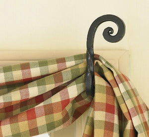 Forged Scroll Curtain Hooks