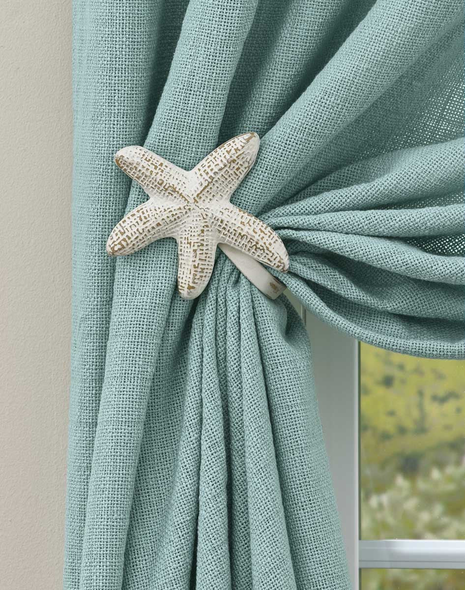 Starfish Curtain Tie-Backs