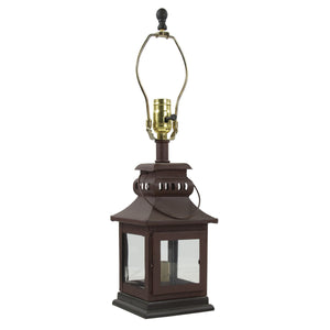 Iron Lantern Lamp ~ Red