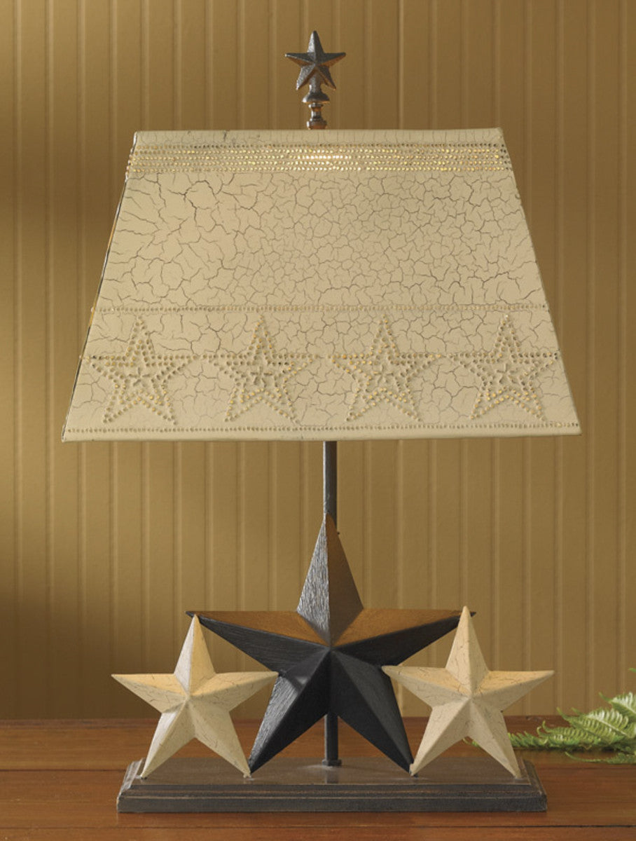 Three Star Lamp with Metal Shade