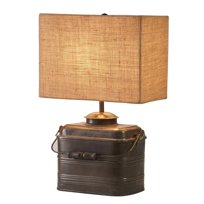 Miner's Lunchbox Lamp with 12
