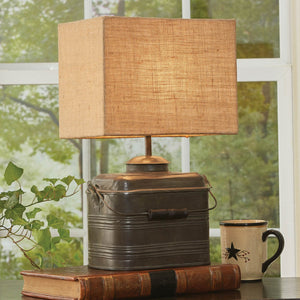 "Miner's Lunchbox Lamp with 12"" Shade"