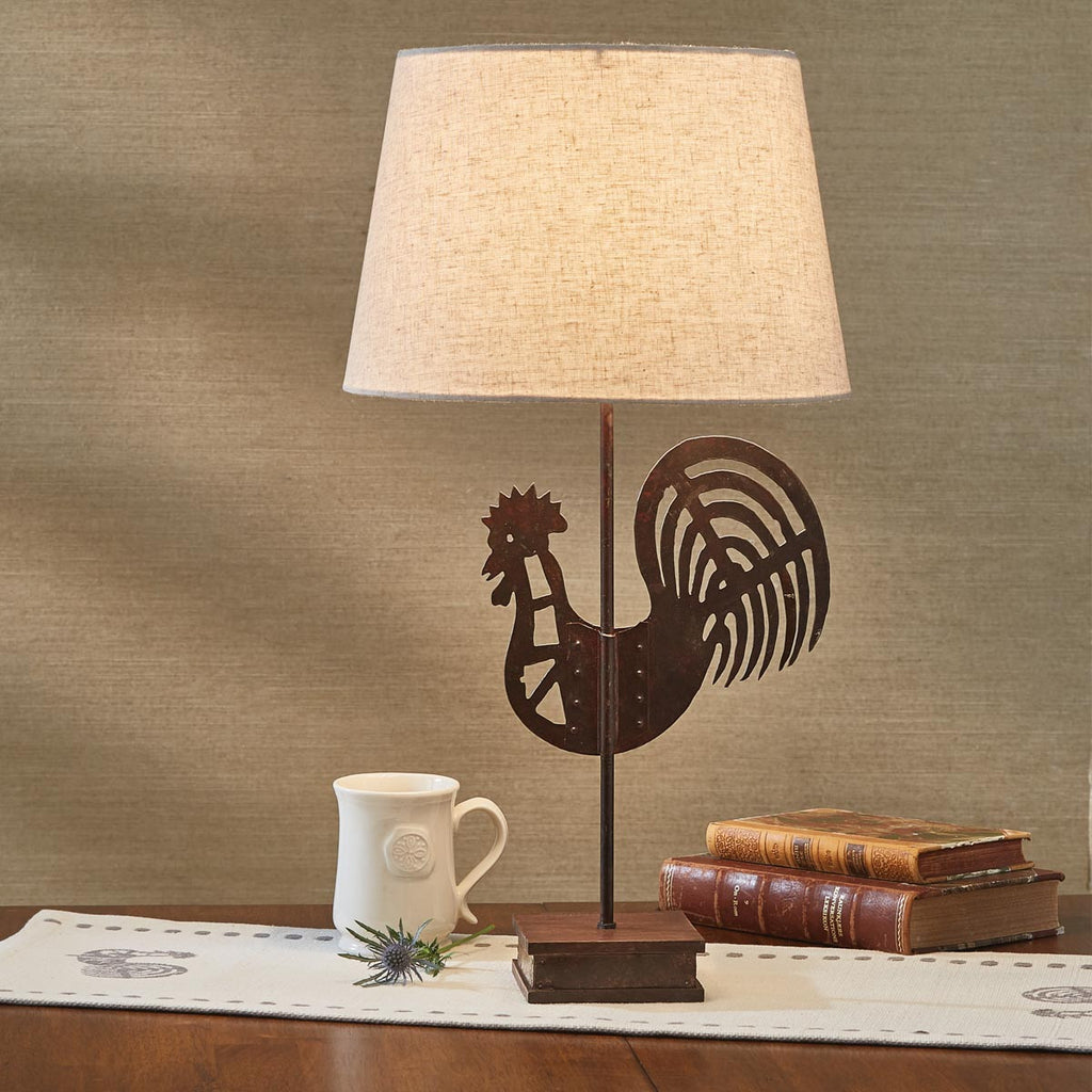 Folk Rooster Lamp with Shade