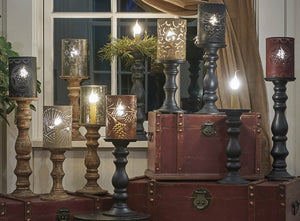 Candlestick Lamps ~ Black