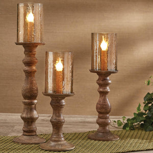 Candlestick Lamps Tan