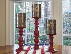 Candlestick Lamps Red