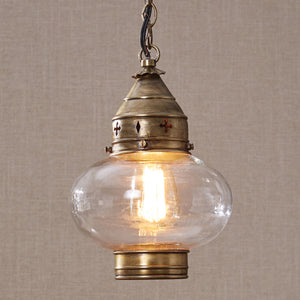 Pendant Light ~ Brass Onion