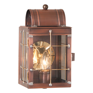 Small Wall Lantern in Antique Copper