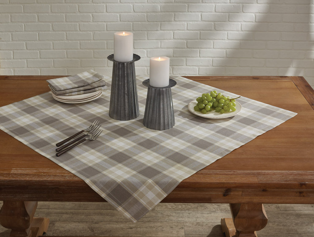 "Table Cloth / Table Square 36"" x 36"" - Weathered Oak"