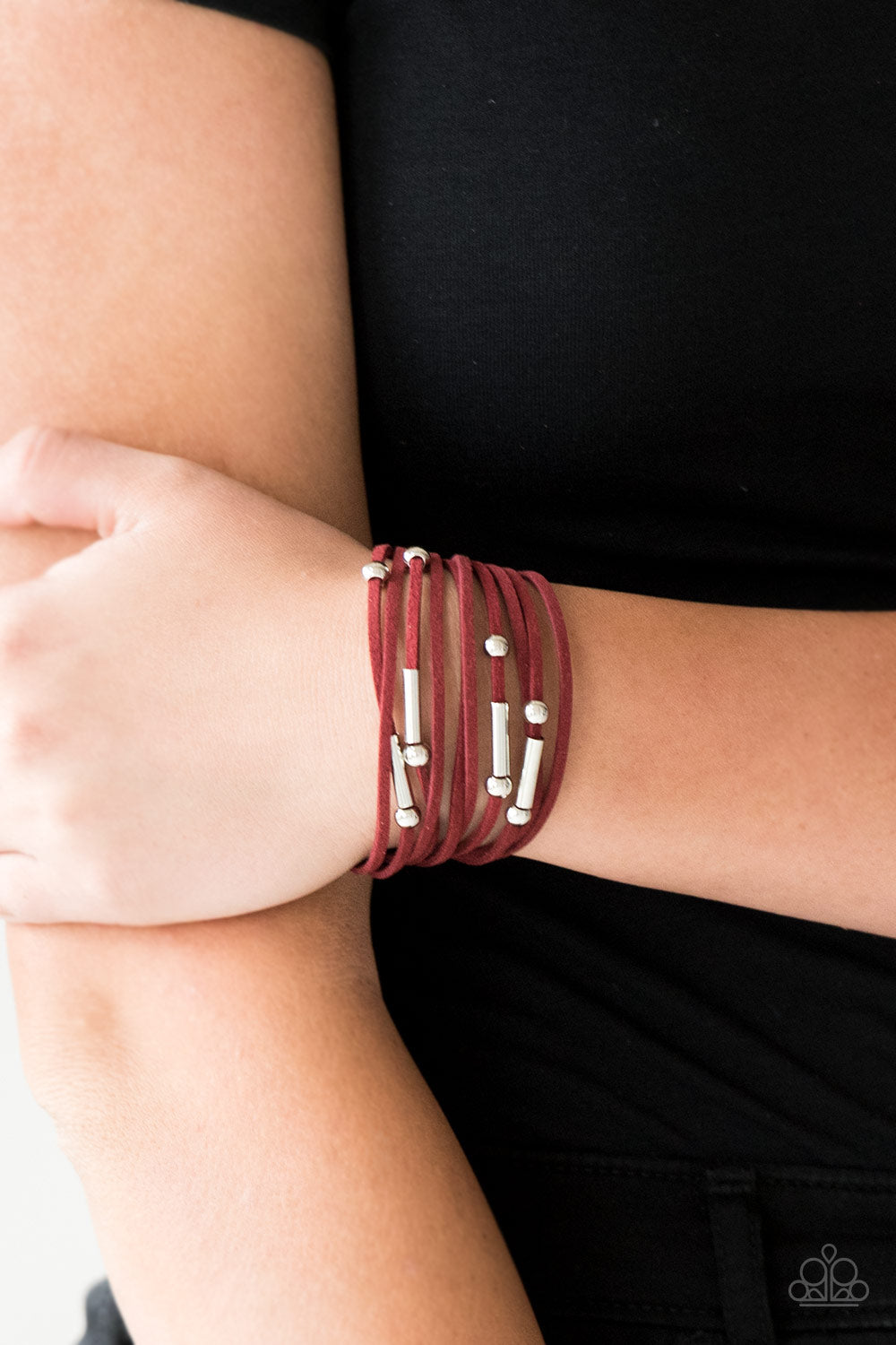Paparazzi Back To BACKPACKER - Red Urban Bracelet