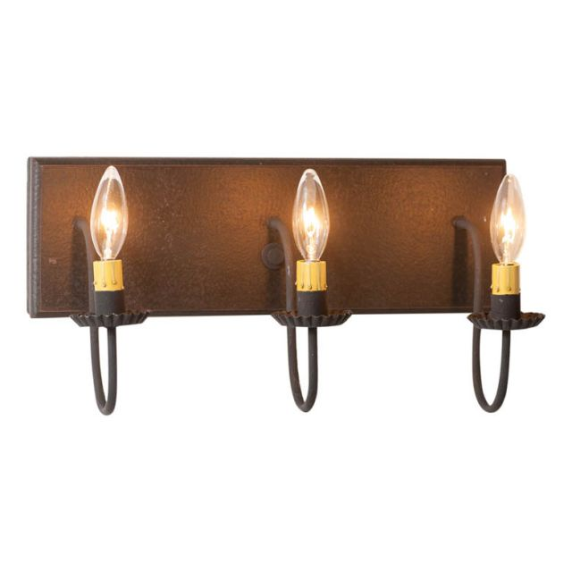 3 Light Vanity Light in Americana Black