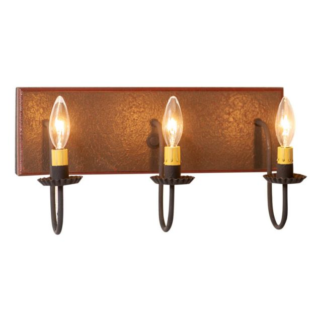 3 Light Vanity Light in Espresso with Salem Brick