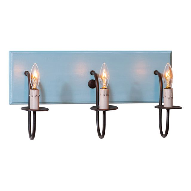 3 Light Vanity Light in Misty Blue