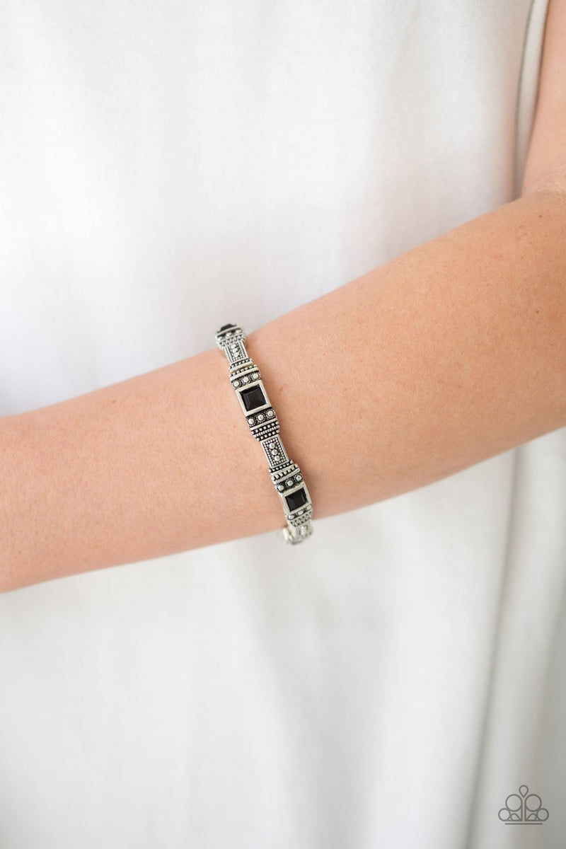 Paparazzi Totally Traveler - Black Bracelet