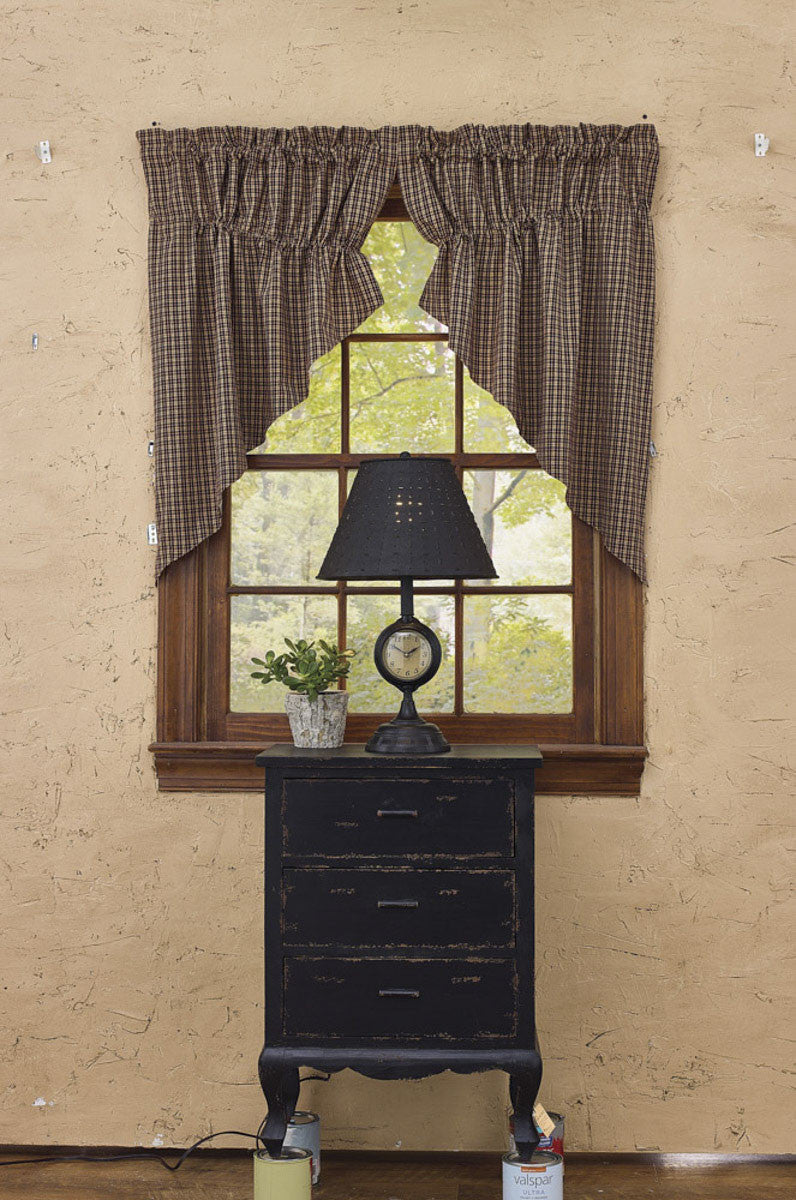 "My Country Home Lined Gathered Swag - 36""L"