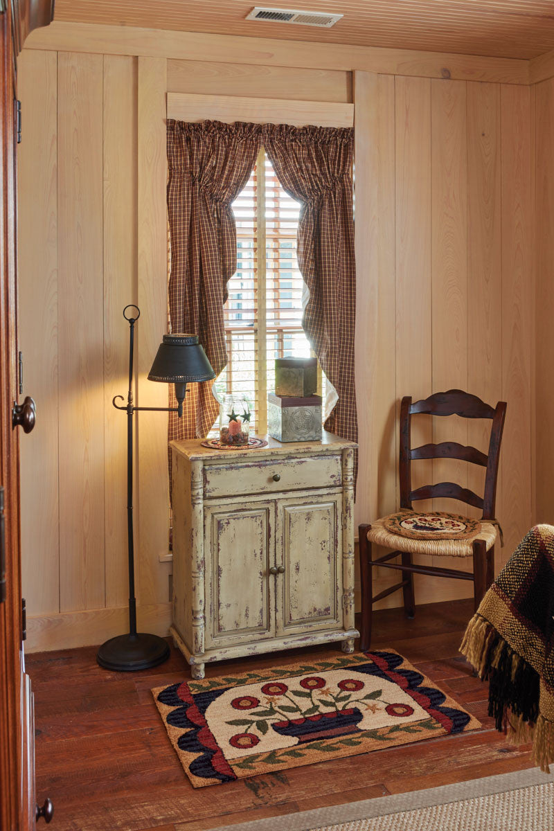 "My Country Home Lined Gathered Swag - 63""L"