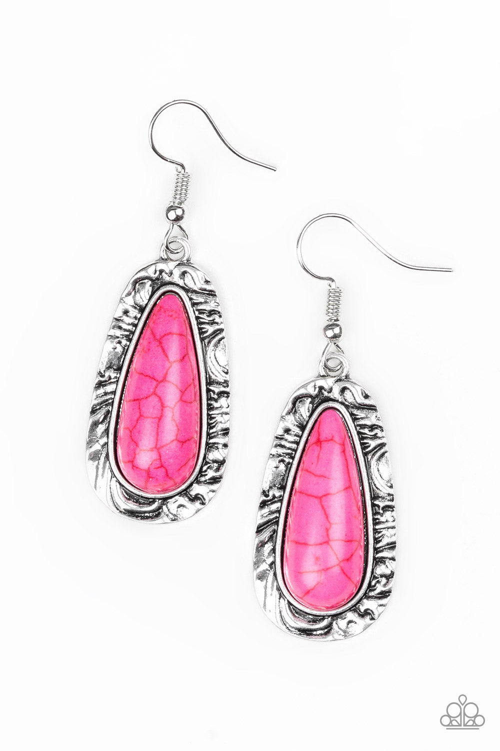 Paparazzi Cruzin Colorado - Pink Earrings