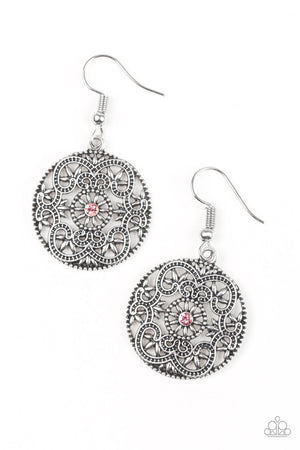 Paparazzi Rochester Royale - Pink Earrings