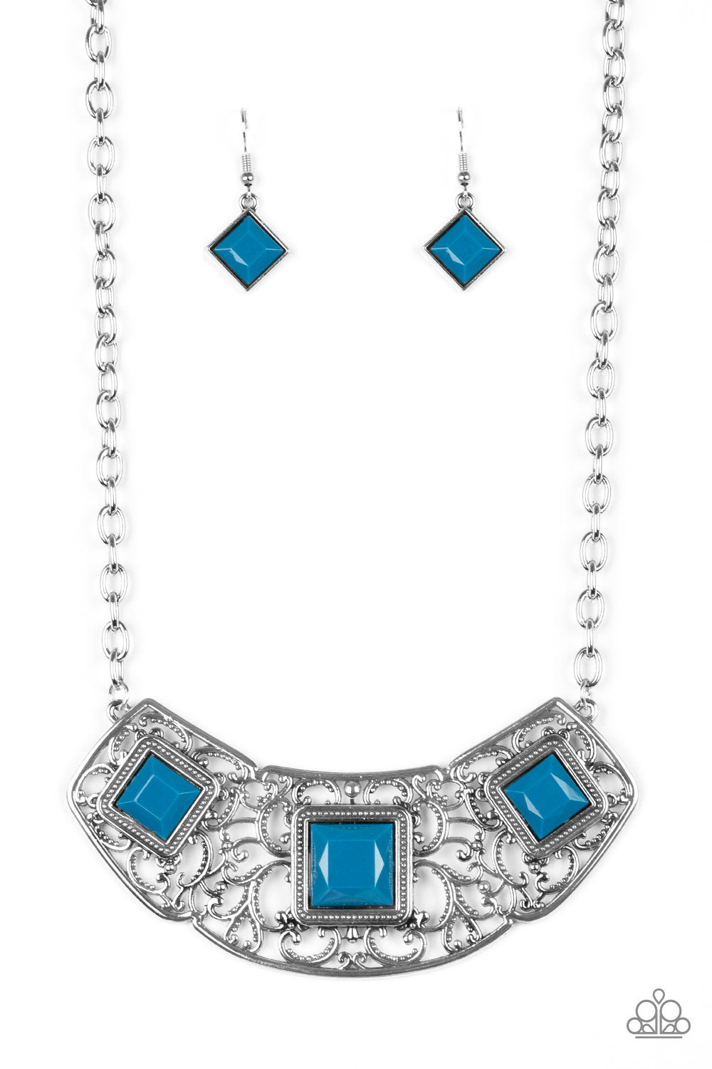 Paparazzi Feeling Inde-PENDANT - Blue Necklace