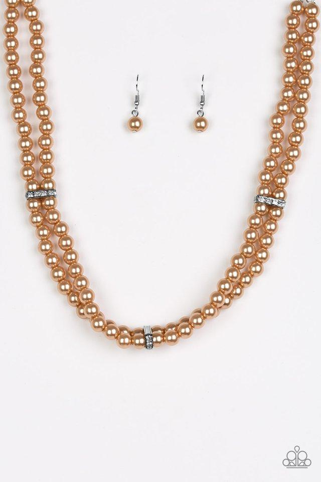 Paparazzi Put On Your Party Dress Brown Necklace