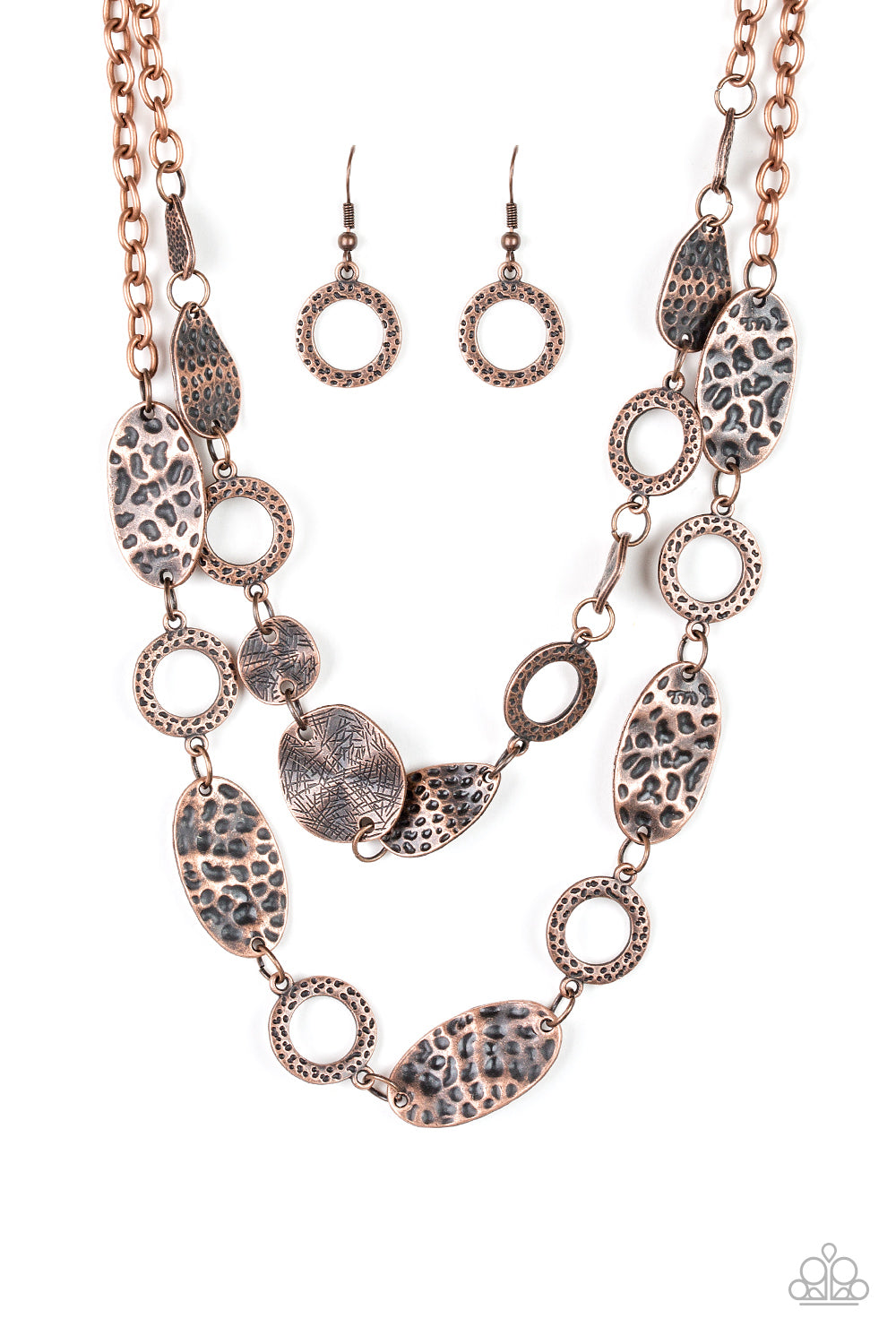 Paparazzi Trippin On Texture - Copper Necklace