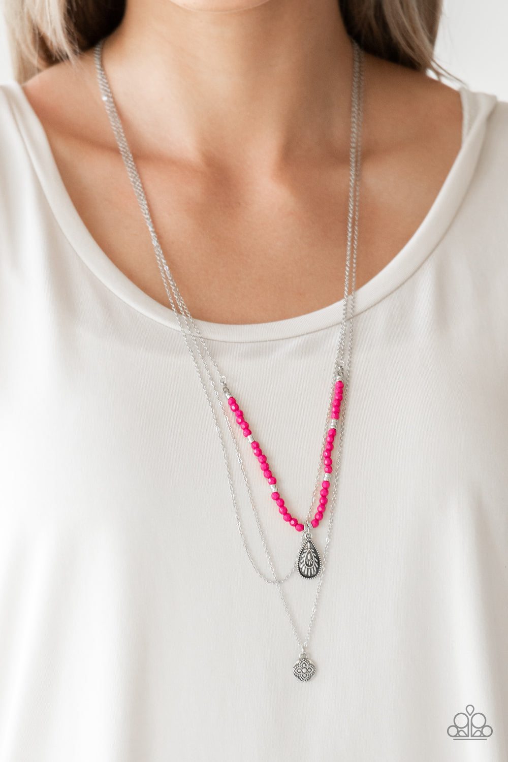 Paparazzi Mild Wild - Pink Necklace