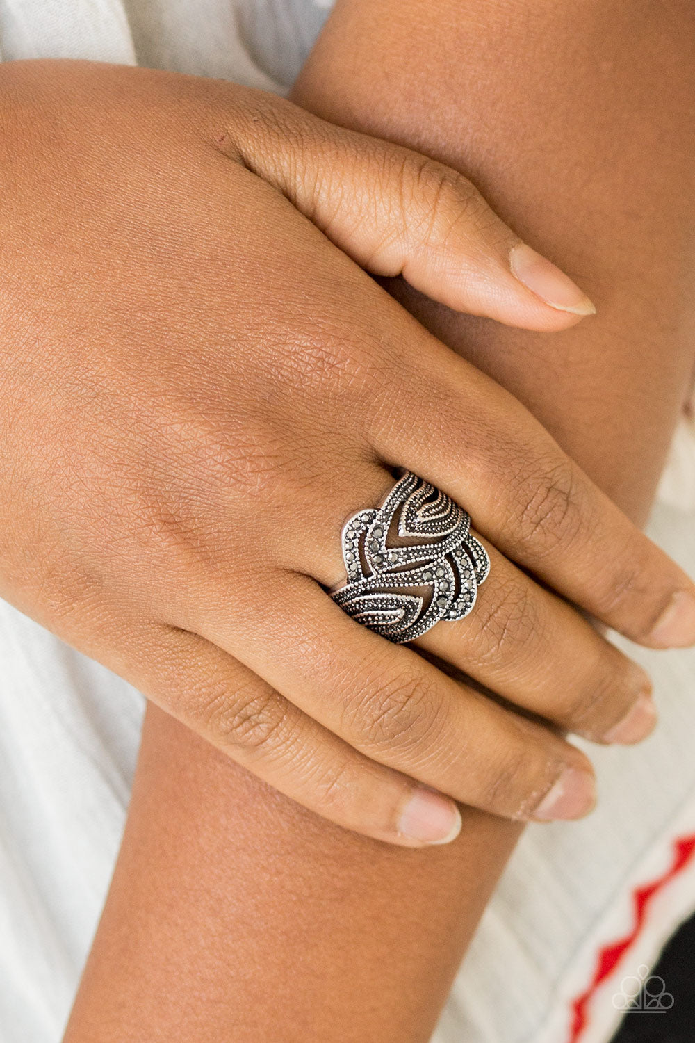 Paparazzi Fire and Ice - Silver Ring