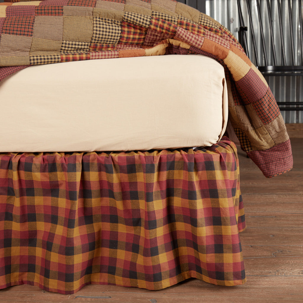 Heritage Farms Primitive Check Queen Bed Skirt 60x80x16