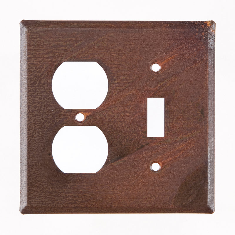 Outlet and Switch Cover Unpierced in Rustic Tin