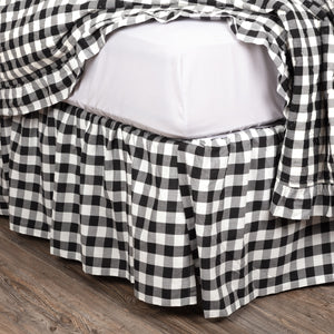 Annie Buffalo Black Check Queen Bed Skirt 60x80x16