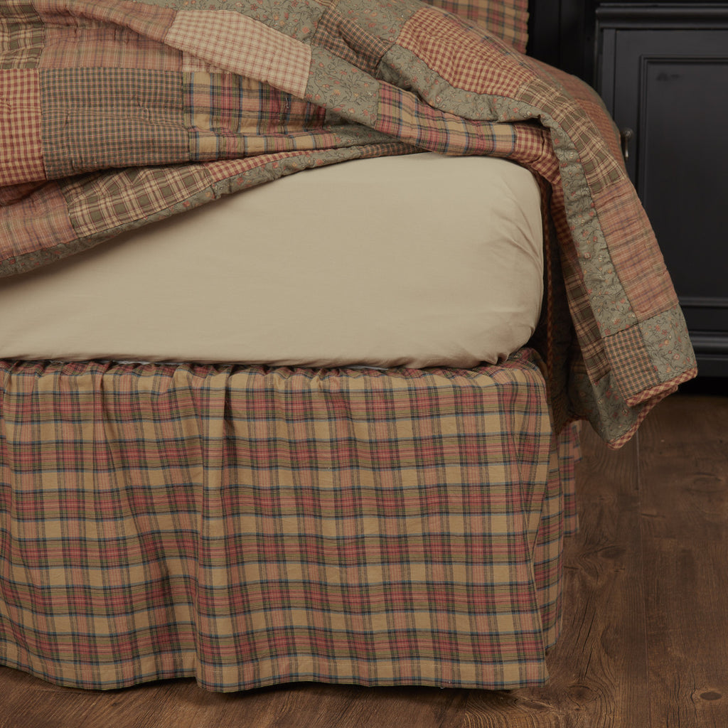Crosswoods King Bed Skirt 78x80x16